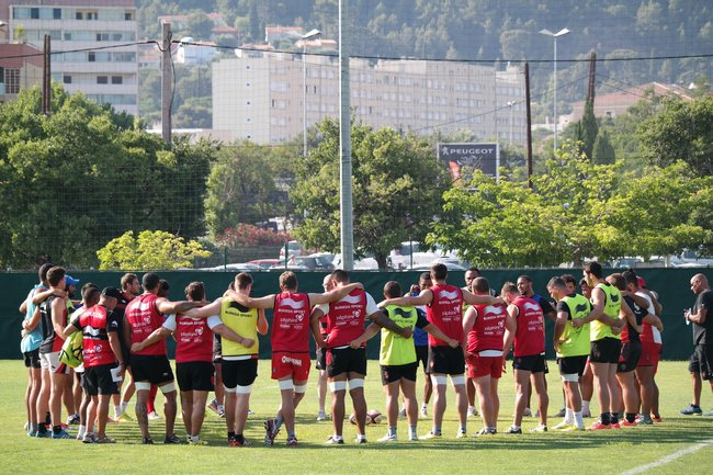 1er entraînement officiel du RCT à BERG 4