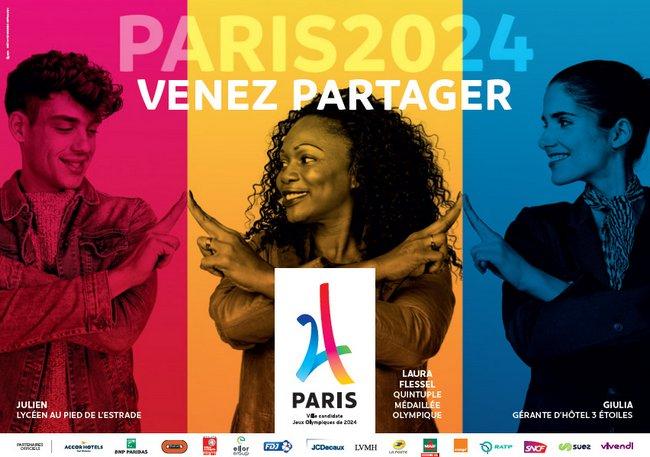 Affiche-Paris 2024 Venez Partager