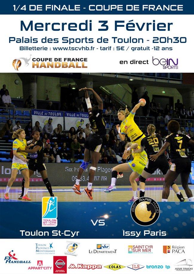 Coupe de France - Match Toulon St Cyr Var HB-Issy Paris