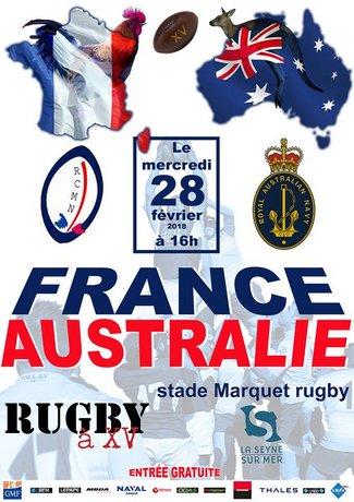 France / Australie Marine Nationale à La Seyne