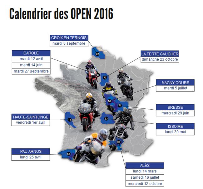 La saison 2016 des Open Mutuelle des Motards