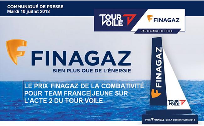 Le Prix Finagaz de la Combativité pour Team France Jeune sur l'Acte 2 du Tour Voile 1