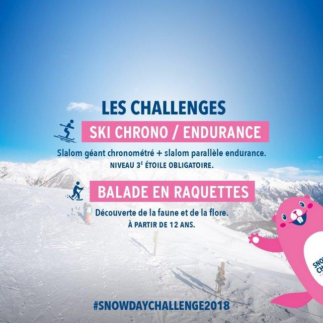 les inscriptions sont ouvertes pour le SnowDayChallenge 2018
