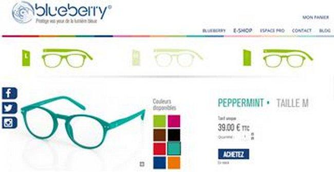 Les lunettes Blueberry 10