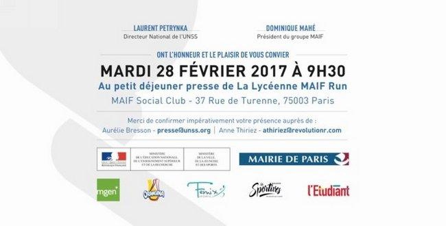 présentation de la 1ère édition de 'La Lycéenne Maif Run 1