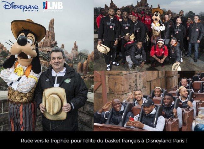 Ruée vers le trophée pour l'élite du basket français à Disneyland Paris 1