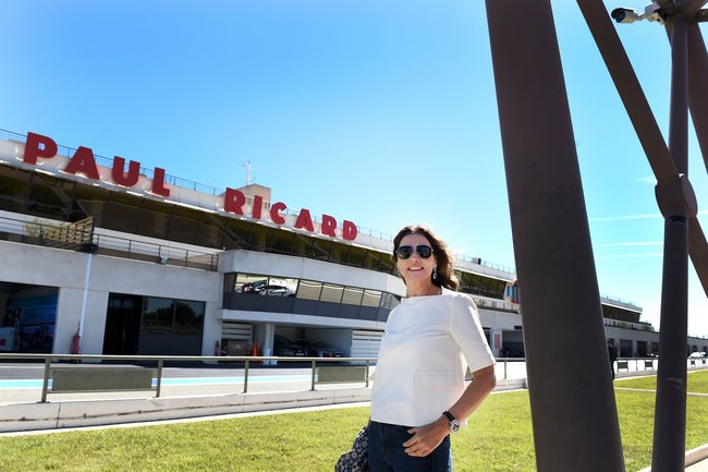 Slavica Ecclestone en visite au Circuit Paul Ricard