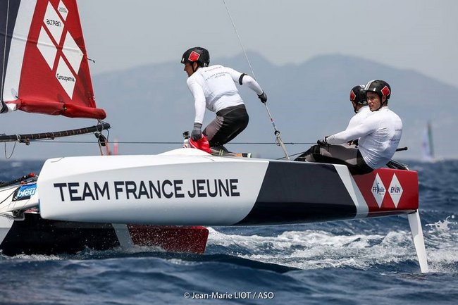 Team France Jeune, le gennaker rose leur va si bien 2