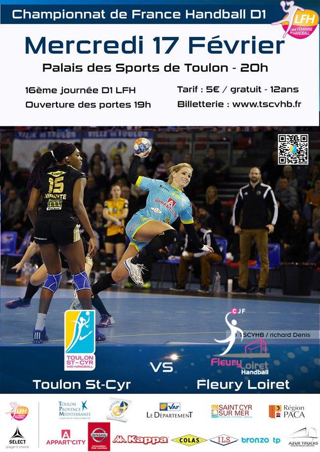 Toulon St Cyr Var Handball vs Fleury - Mercredi 17