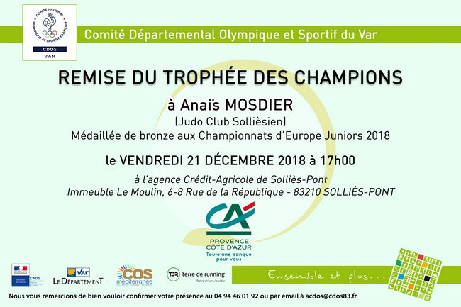 Trophee champions anais mosdier 21122018